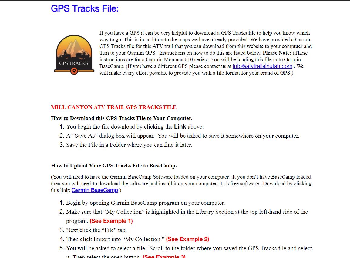 08 Garmin Trail Upload Location on GPS | ATVTrailsInUtah com